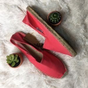 Soludos Cotton Espadrille Pink Flat Shoes 39